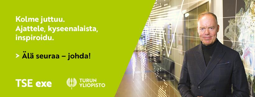Pauli Aalto-Setälä TSE exe johtamisosaamisen kehitysohjelmien kansikuvassa