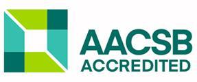 Executive MBA koulutuksen AACSB-akkreditoinnin tunnus
