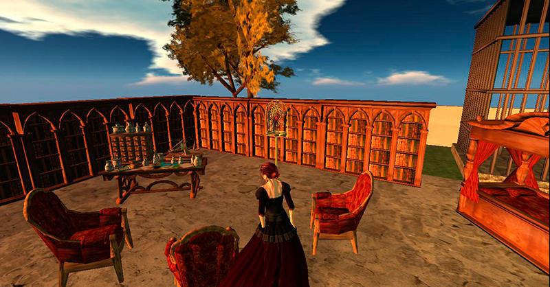 Pelillisiäkin elementtejä sisältävässä 3D-virtuaaliympäristössä Second Lifessa on museologian kannalta kiinnostavia ympäristöjä, joissa voi tarkastella virtuaalisuuden toteutumista ja jo historiallisia kerroksia museoiden virtuaalisuuden alkutaipaleelta. Kuva: Maija Mäki.