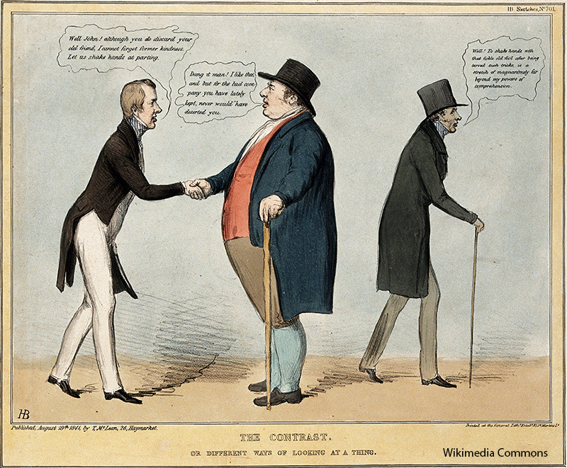 V0050279 Politicians greeting John Bull