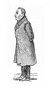 19-vuotias William Makepeace Thackeray piirsi tämän kuvan Goethesta Weimarin-matkallaan vuonna 1830. Wikimedia Commons.