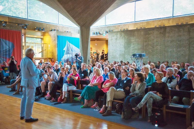 Peter Greenaway vuoden 2014 Aboagora-symposiumissa. Kuva: Otto Väätäinen.