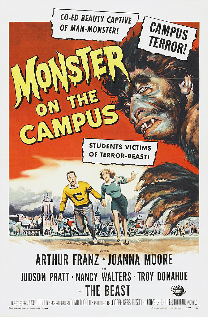 Monster on the Campus -elokuvan (1958) juliste. Wikimedia Commons.