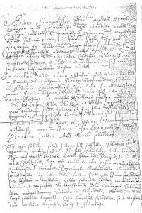 Joulurauhan julistus vuodelta 1770, jonka viimeisessä kappaleessa kielletään vieraiden maiden vaatteiden käyttäminen. Kuva: Turun maakunta-arkisto.