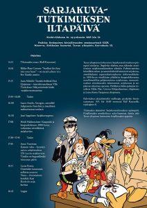 Sarjakuvataiteilija Mika Lietzén suunnitteli tapahtuman julisteen.