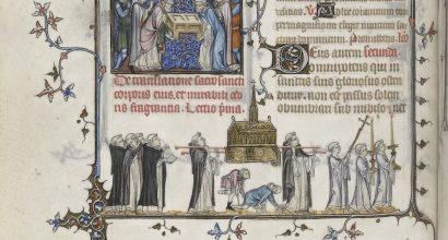 Kuvaus pyhän Dominicuksen translaatiosta