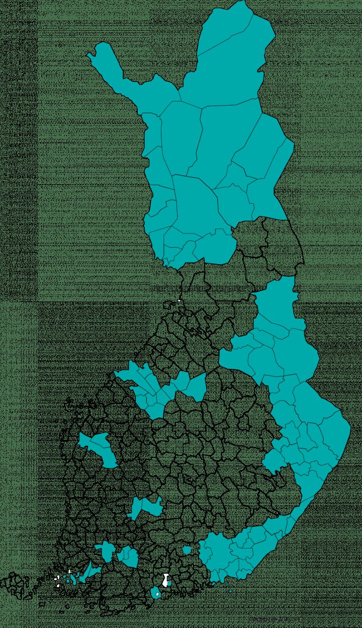 Voimaperheet-kunnat vuonna 2020